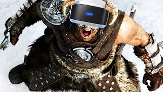 Virtual Reality DRAGONBORN! - Skyrim PSVR Gameplay