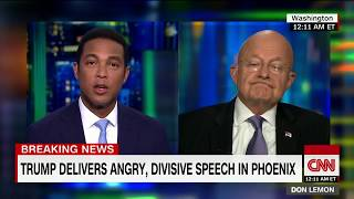 James Clapper's full interview on Trump's rally