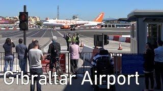 Amazing: Four-lane road crosses Runway at Gibraltar Airport | 4K