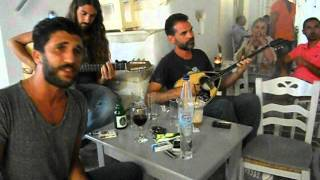 Greek music in the streets of Naoussa, Paros
