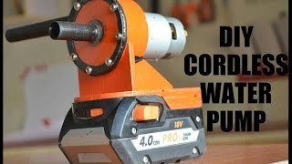 How To Make a Cordless Water Pump