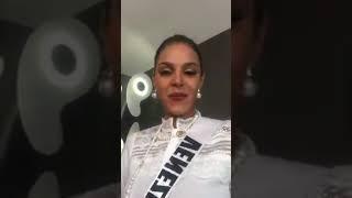 @MissVenezuela Keysi Sayago con #MissCanada #MissDominicanRepublic y #MissNepal en el #MissUniverse