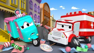 Carrie the Candy Car ! -  Amber the Ambulance in Car City l Cartoons for Children