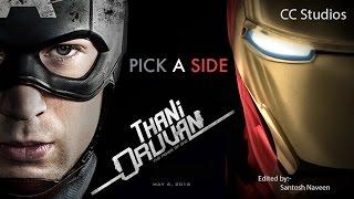 Thani Oruvan Trailer-Remix Captain America Civil War