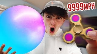 9999+ MPH FIDGET SPINNER VS WUBBLE BUBBLE EXPERIMENT!!! (Fidget Spinner Tricks)