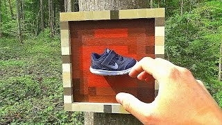 ITEM FRAME in REAL LIFE - Minecraft
