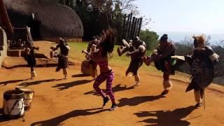 Cheerleader - Yasmin Tzfania @ Zulu tribe - Africa 2015