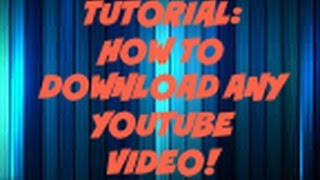 How to Download any YouTube Video in MP4/MP3 form!