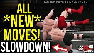 WWE 2K18 News: All NEW MOVES In SLOW MOTION! [#WWE2K18 News]