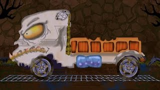 truck | lorry  | car garage | car formation | scary video for children | hello its halloween