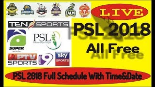 PSL 2018 Full Schedule With Time&Date | Pakistan Super League 2018 schedule and time table In Urdu