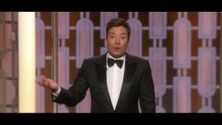 Golden Globes Host Jimmy Fallon Takes 3 Swipes at Trump in first 4 Minutes of Show