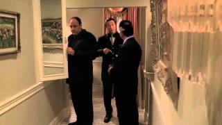 The Sopranos - Tony sees Pussy's ghost in a mirror