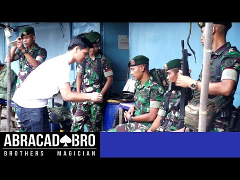 Magician Ask Soldiers To Fight - abracadaBRO DANGEROUS & BEST STREET MAGIC PRANK INDONESIA