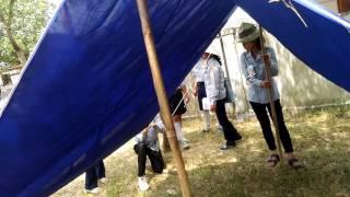 Thi cắm trại nhanh ngành thiếu nữ Vùng Trúc Lâm gđpt huyện Triệu phong