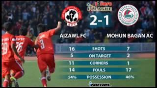 Hero I-league Aizawl FC vrs  Mohun Bagan AC   26.03.2016 @ Rajiv Gandhi Stadium Mualpui