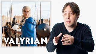 Game of Thrones Language Creator Reviews People Speaking Valyrian and Dothraki | Vanity Fair