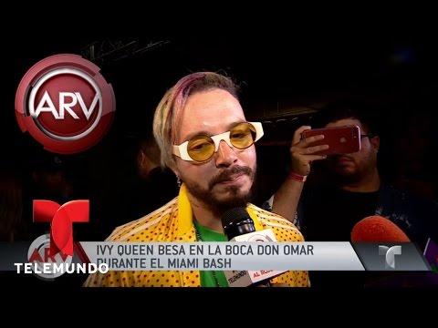 Ivy Queen besó en la boca a Don Omar en el Miami Bash Al Rojo Vivo Telemundo