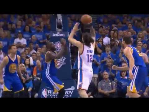 Steven Adams posterizes Draymond Green - Payback after kick in groin!