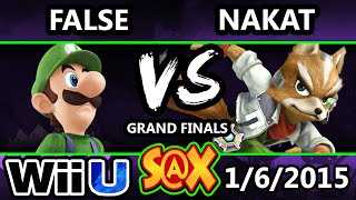 S@X - LoF | Nakat (Falcon, Ness, Fox) Vs. LoF | False (Luigi) SSB4 Grand Finals - Smash 4 wii U