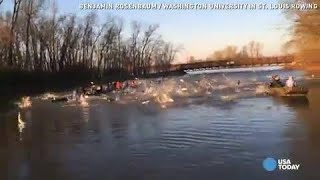 Flying Asian carp attack college rowers