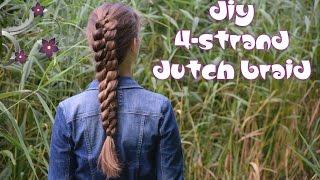 How to: 4-strand Dutch Braid | Yiyayellow Hairstyles