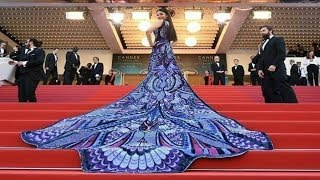 Aishwarya Rai Bachchan In Michael Cinco At Cannes 2018 Red Carpet On Her Day 1