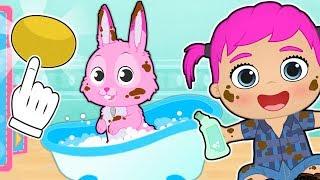 BABY PETS 💥 Como dar un baño al conejito Ruby | Dibujos animados educativos para niños