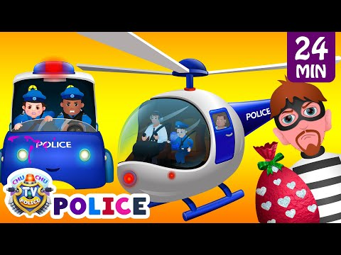 ChuChu TV Police Thief Chase Police Car Helicopter Bike Save Surprise Eggs Kids Toys & Gifts