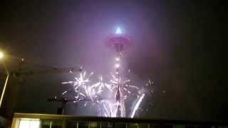 Fireworks Seattle Space Needle 2014 (New year Celebrations)