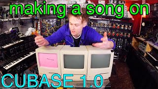 Music On An OLDSKOOL Apple Macintosh Classic and CUBASE 1.0