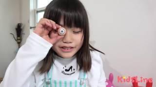 目が取れちゃったー!!!2 目玉チョコレート お遊戯 こうくんねみちゃん eye pops out!!!