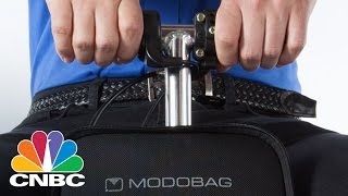 Motorized Suitcase Modobag Lets You Ride Your Luggage Through Airport | CNBC