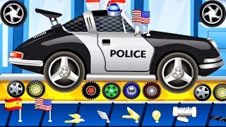 CAR WASH - Car Factory | Builds Police Car | Videos For Children | BEST iOS Apps for KIDS