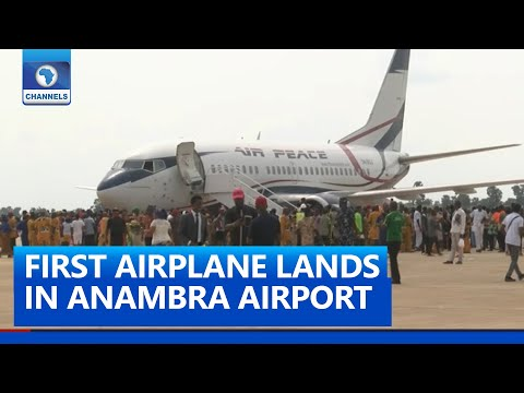 FULL VIDEO Anambra Airport Welcomes First Flight