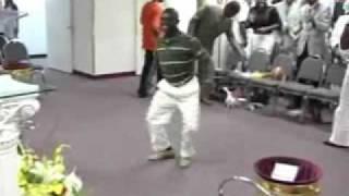 Crazy Guy Dancing in Church