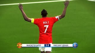 What if Usain Bolt Play for Manchester United - PES 2018 Gameplay