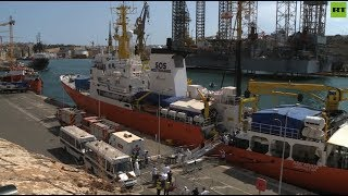 Migrant rescue ship docks in Malta after long dispute