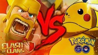 Pokémon GO VS. Clash of Clans | Duelo de Titãs