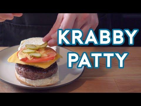 Binging with Babish Krabby Patty from Spongebob Squarepants