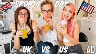 Sports Day & Recess! British vs American | Evan Edinger & Dodie Clark & Connie Glynn ft  Glasses #AD