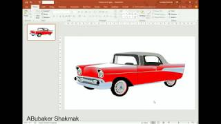 Super speed - Draw a classic car using PowerPoint. Opel 1950s!