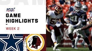 Cowboys vs. Redskins Week 2 Highlights | NFL 2019