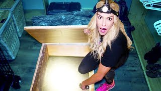 Exploring Hidden SECRET UNDERGROUND TUNNEL in my HOUSE! (We found a MYSTERY note with clues)
