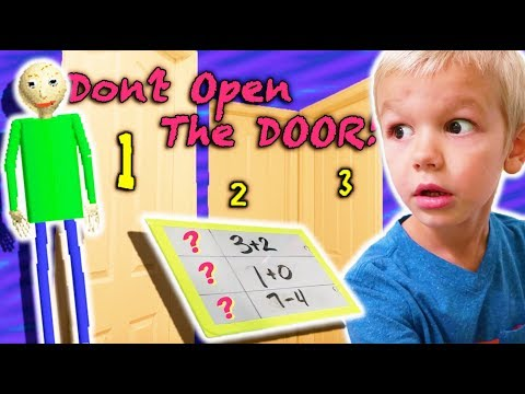 Don t Open the Wrong MYSTERY Door MEETS Baldi s Basics in Real Life