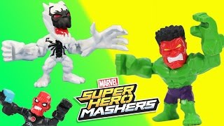 Marvel Super Hero Mashers Micro Anti Venom & Red Hulk have an adventure W/ lots of Micro Mashers!!