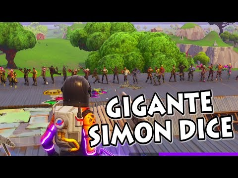 SIMON DICE GIGANTE INCREÍBLE FINAL FORTNITE PERSONALIZADAS