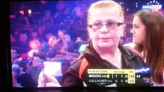 BDO Ladies darts - funny Gallagher