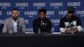 Valanciunas, DeRozan, Lowry Postgame Interview / Raptors vs Wizards Game 5