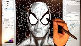 Drawing SPIDERMAN and Peter Parker with Clip Studio Paint